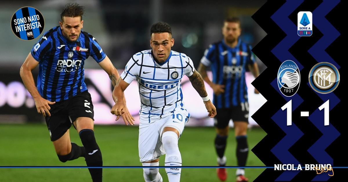 Pareggio agrodolce a Bergamo, l'Inter non decolla più